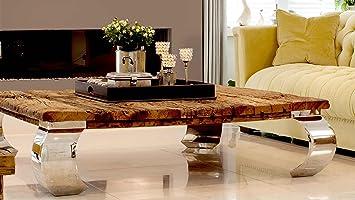 Elegant Wohnzimmertisch Couchtisch Tisch Schwemmholz Treibholz Möbel Maison Chrom  Deko