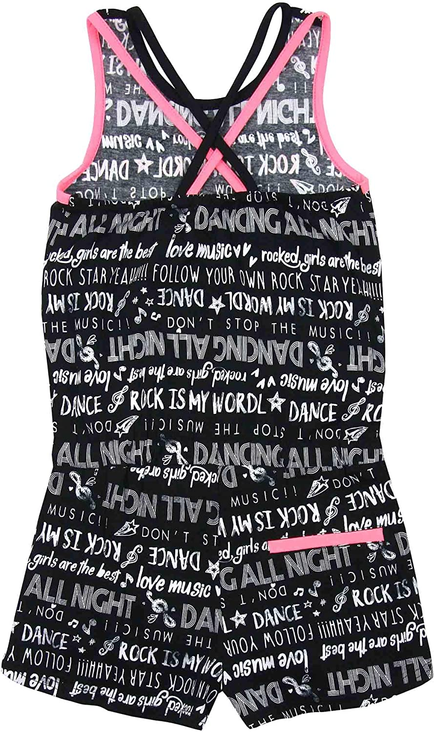 Sizes 8-16 Losan Junior Girls Romper in Dancing Print