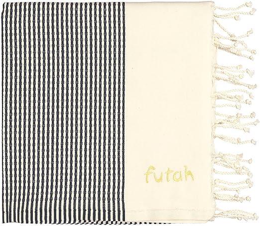Toalla de playa Futah Nazaré XL, color negro, extra grande, 100% algodón, ligero, absorbente y resistente (180x195 cm): Amazon.es: Hogar
