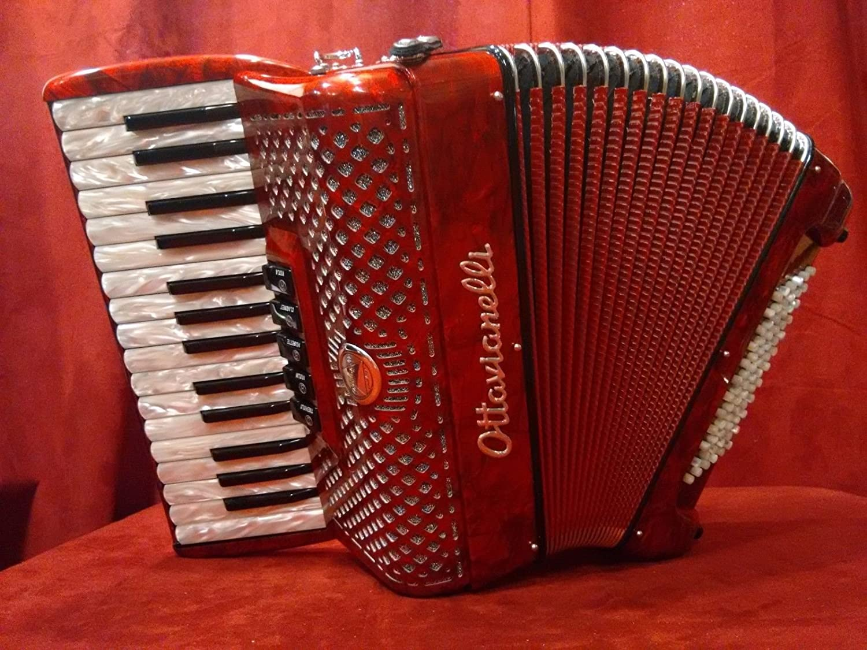 NEW Ottavianelli Piano Accordion Red Bambino MMM 30 Key 72