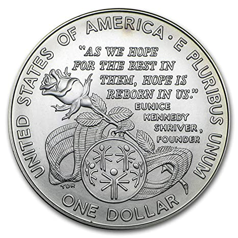 1995 Special Olympics World Games BU Silver Dollar US Mint Coin ONLY Shriver