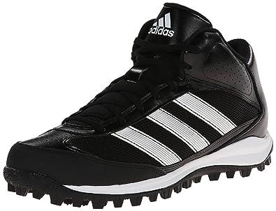adidas Performance Men's Turf Hog LX Low Football Cleat,Black/White,11 M