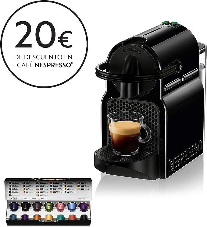 Nespresso DeLonghi Inissia EN80.B - Cafetera monodosis de cápsulas Nespresso, 19 bares, apagado automático, color negro: Amazon.es: Hogar