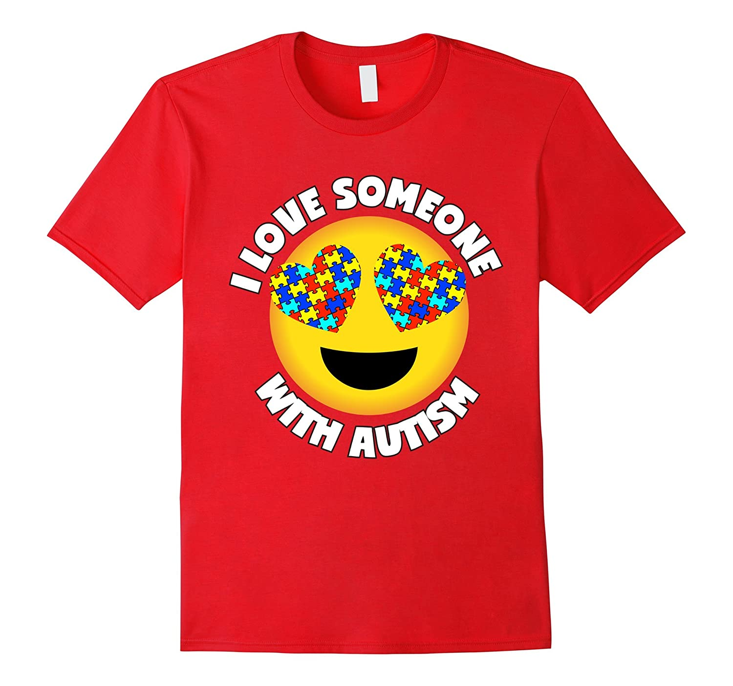 Autism Shirt I Love Someone With Autism Heart Eyes Puzzle-CD