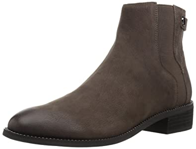 Franco Sarto Womens Brandy Leather Synthetic Sole Peat Ankle Boot 10 Wide US