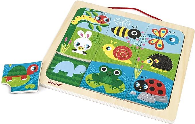 Janod Puzzle Magnético de madera, Happy Garden (J08182): Amazon.es: Juguetes y juegos