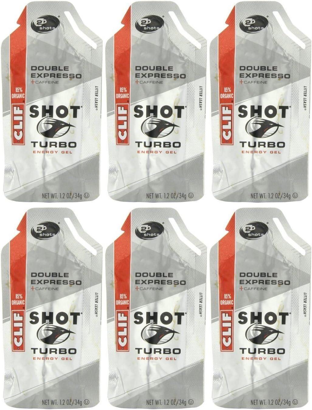 Clif Shot Gel - Double Expresso - 6 Pack (6 x 1.2oz Packs)