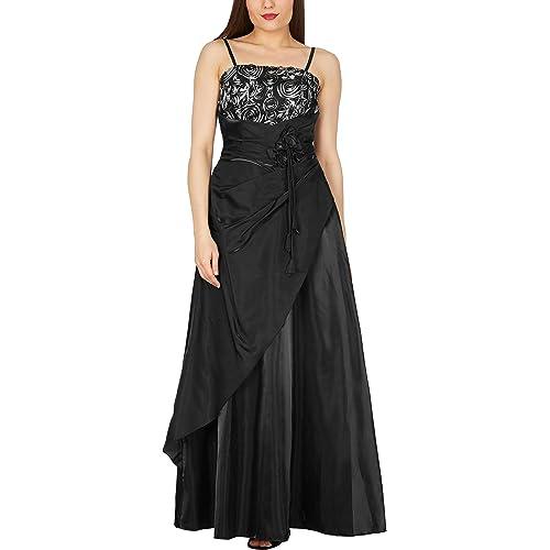 BlackButterfly Belle Bliss Satin Long Evening Ballgown Dress
