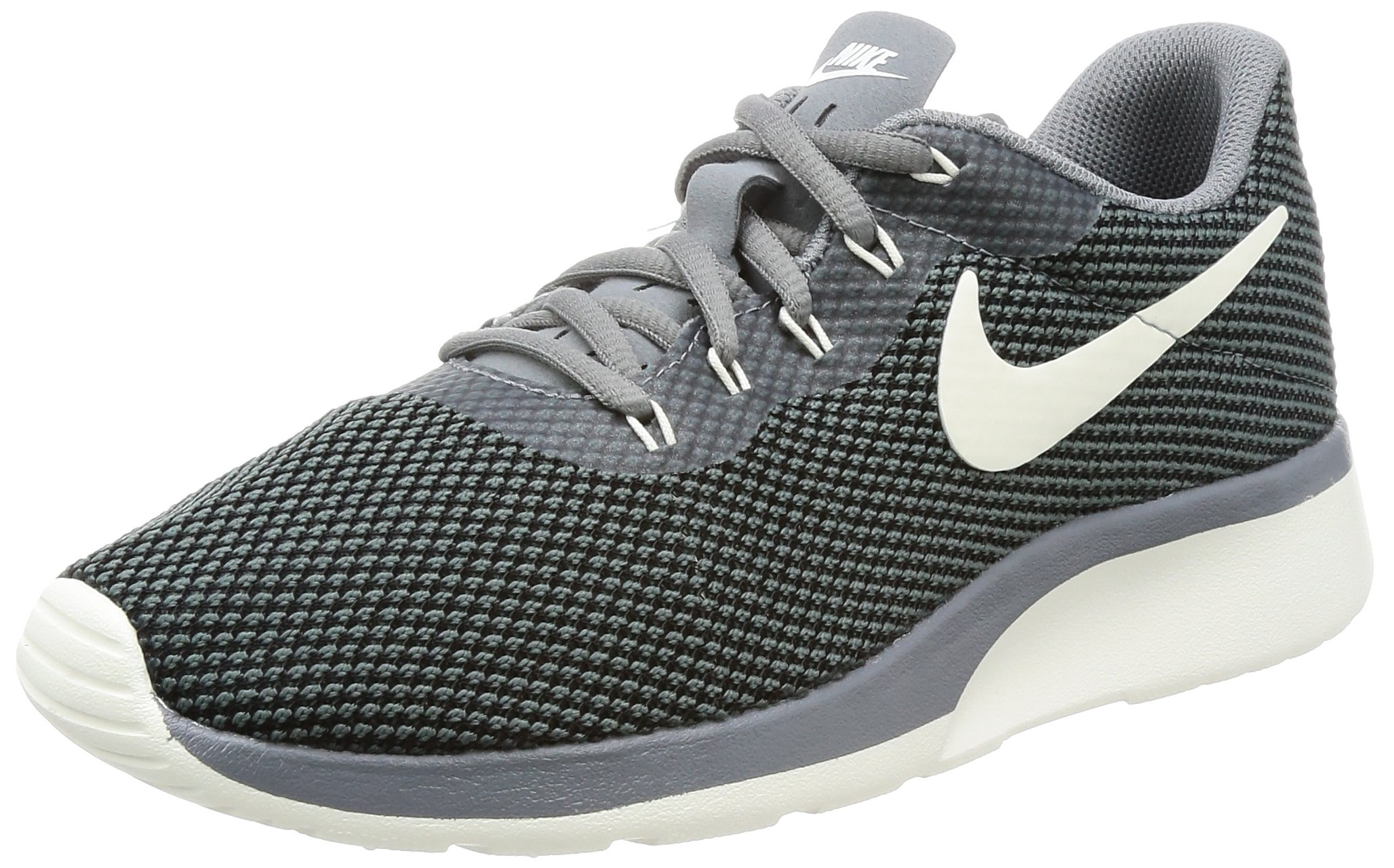NIKE Womens Tanjun Racer Running Shoe (9.5 B(M) US, Cool Grey/Sail-Black)