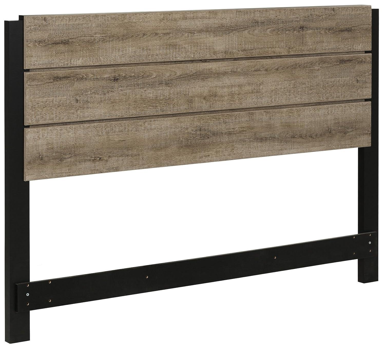 South Shore Furniture Munich Full/Queen Headboard (54/60''), Weathered Oak 10494