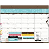 """AT-A-GLANCE Monthly Desk Pad Calendar, January 2018 - December 2018, 21-3/4"""" x 17"""", Suzani (SK17-704)"""