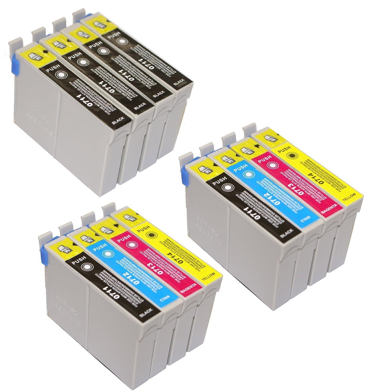 T 715 x 2 + impresoras EPSON - 711 x 4 T cartuchos de tinta para ...