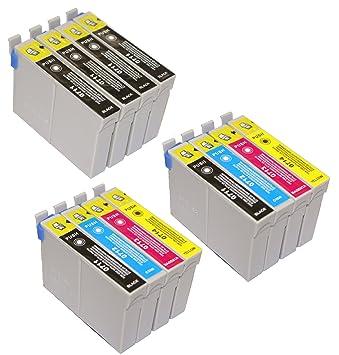 T 715 x 2 + impresoras EPSON - 711 x 4 T cartuchos de tinta para EPSON