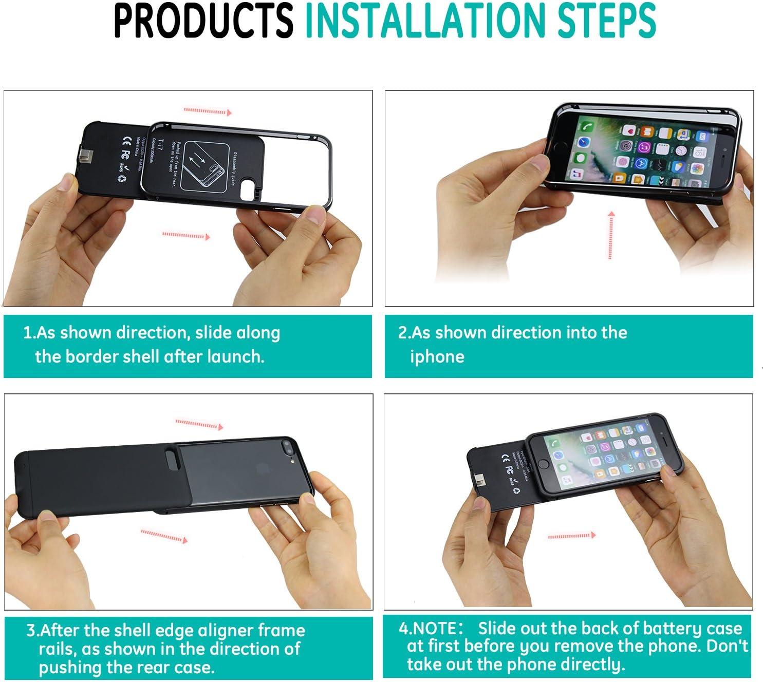 Custodia Batteria iPhone 7 Plus iBeek 4000mAh Ultra Sottile
