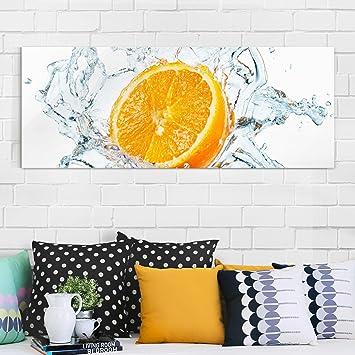 Glasbild - Frische Orange - Panorama Quer, Wandbild, Glas Bild ...