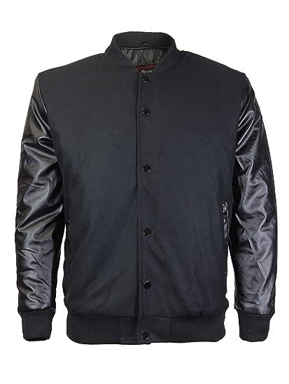 ad1af72c6 New Men's Premium Classic Snap Button Vintage Baseball Letterman Varsity  Jacket