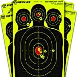 "BEEWARE Targets - 12x18 "" Silhouette Reactive Splatter Targets for Shooting - for Indoor / Outdoor Ranges – Rifle – Pistol – Air Rifle - 22 – Pellet - BB Gun Practice"