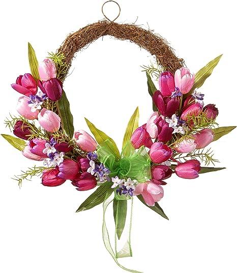 Sweet eighteen inch Flower and Twig Wreath