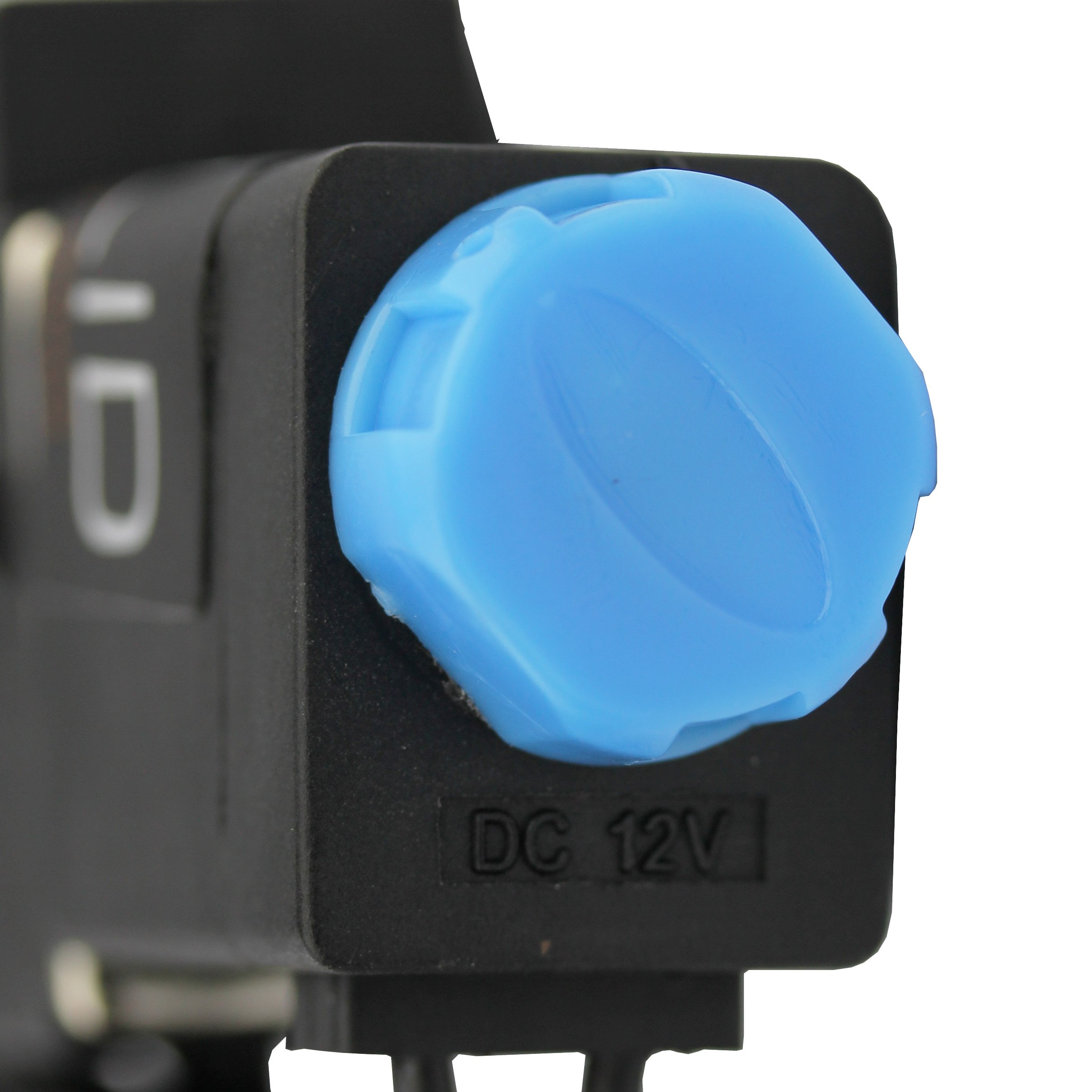 -NEW- Solenoid Valve 1/4'' Normally Closed (N.C.) 12VDC Nylon (NEW Improved Crack-resistant Polymer) Blue Cap by U.S. Solid by U.S. Solid (Image #4)