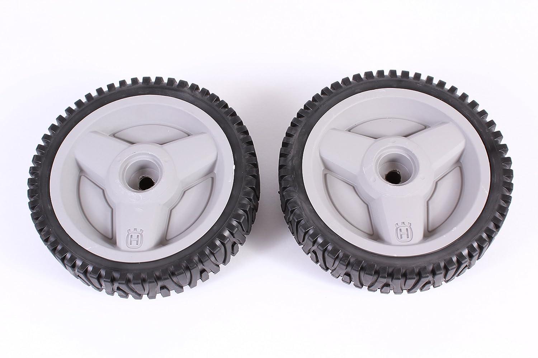 "2 Pack Genuine Husqvarna 532401274 8"" x 1.75"" Wheel Replaces 401274 401274X460 Gray OEM"