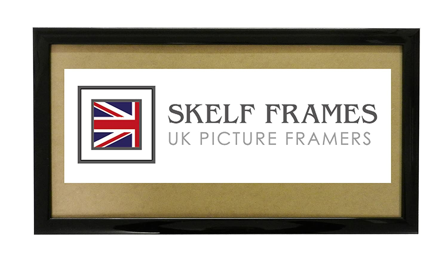 20x7 PANORAMIC WOOD PICTURE PHOTO POSTER FRAME (Shiny Black) SKELF FRAMES LTD