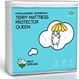Milddreams Waterproof Mattress Protector Pad Queen - Plastic Bed Cover - Waterproof Fitted Sheet - Size (60x80+18 inch Deep Pocket)