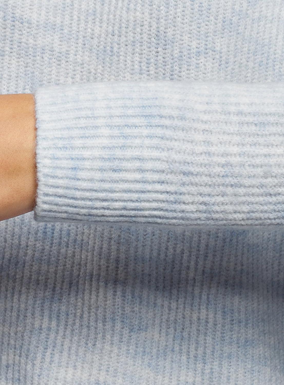oodji Ultra Mujer Jersey de Punto Texturizado con Cuello Redondo