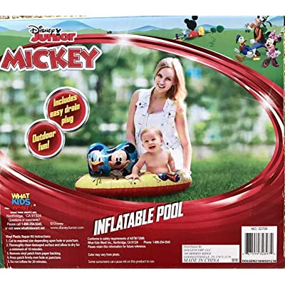 Disney Mickey Mouse and Donald Duck Baby/Toddler 36 Inflatable Kiddie Pool, Ages 3+: Toys & Games