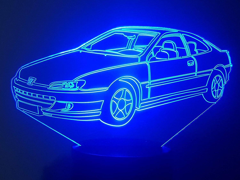 Lampe 3D Motif: PEUGEOT 406 coupé