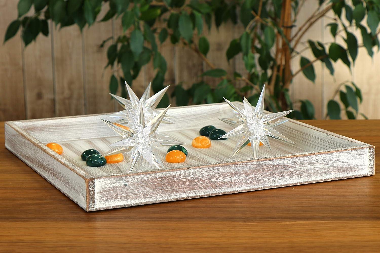 01 Pezzo - tavoletta Quadrata com-four/® Vassoio Decorativo in Legno dal Design Vintage