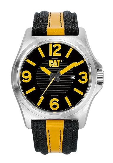 Caterpillar PK.141.63.137 - Reloj de Cuarzo para Hombre, Correa de Tela: Amazon.es: Relojes