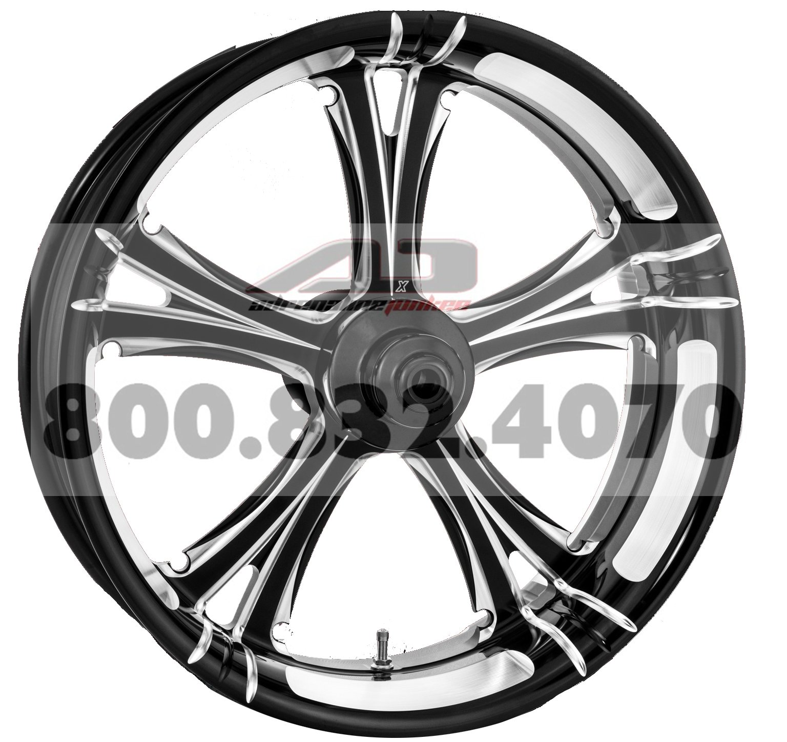 Xtreme Machine Fierce Rear Wheel - 18x5.5 - Black Cut , Color: Black, Position: Rear, Rim Size: 18 1256-7814R-XFR-BM by Xtreme Machine (Image #1)
