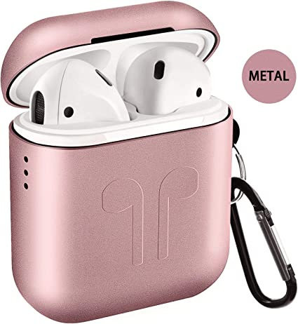 Metal Airpods Case 2019 Newest Full Protective Skin Cover Accessories Kits Compatible Airpods 1&2 Charging Case[Not for Wireless Charging Case] best AirPods case