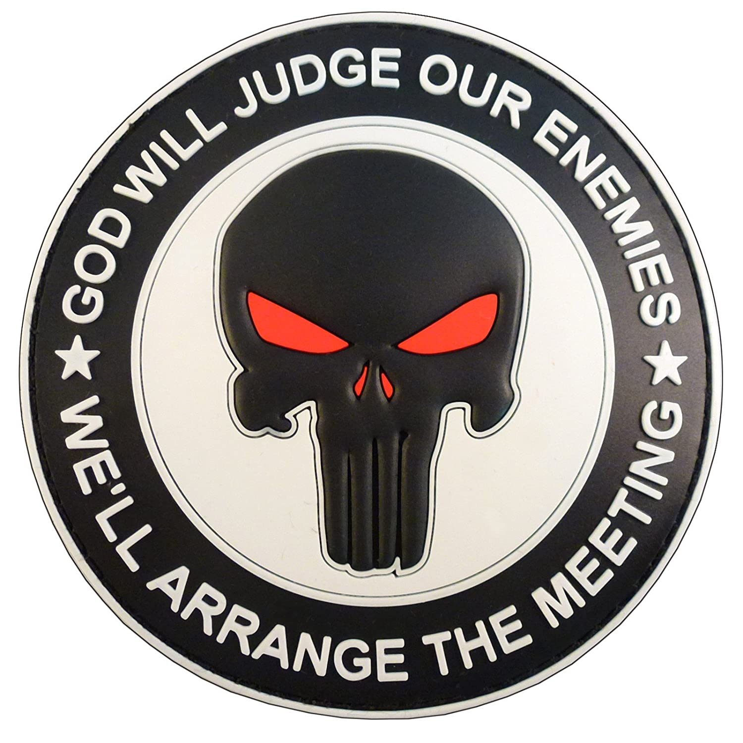 GOD WILL JUDGE OUR ENEMIES Punisher DEVGRU Navy Seals PVC Hook&Loop Patch 2AFTER1 P.1718.4.V