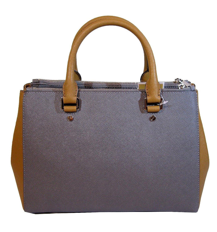 d536ee5fa1f Michael Michael Kors Sutton Colorblocked Medium Satchel, Steel Grey/acorn:  Handbags: Amazon.com