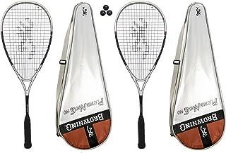 Browning Platinum Nano 2 x 140 Squash raquettes et 3 balles de Squash