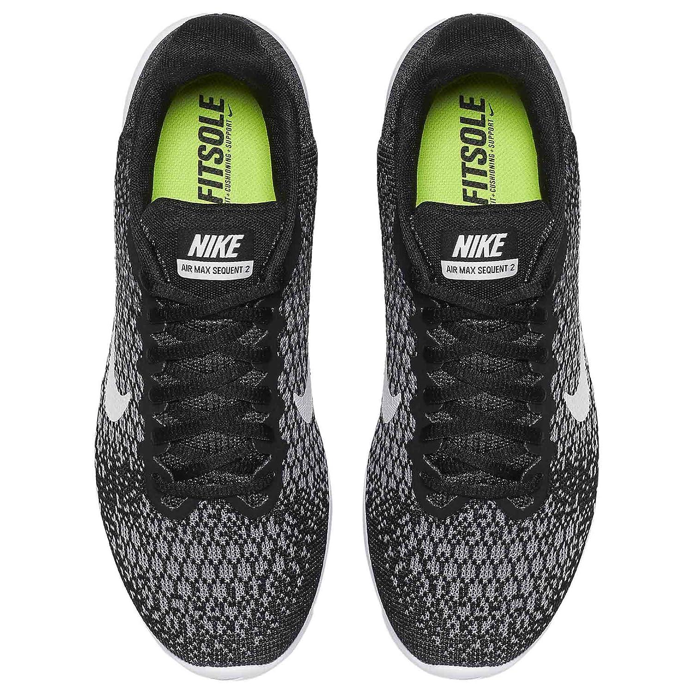 Amazon.com   Nike Women's Air Max Sequent 2, Running, Black/ White, 9 US M    Running