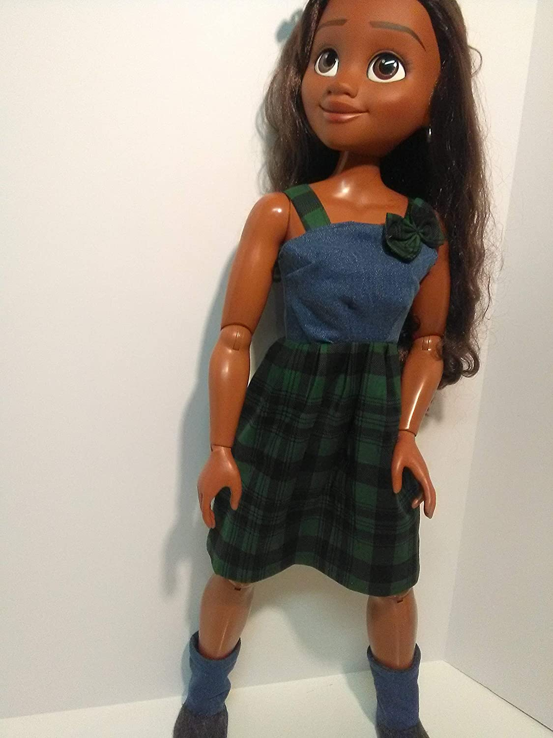 Fits 32 inch Moana and Rapunzel dolls Doll sundress with boots Clothes for 32 inch dolls
