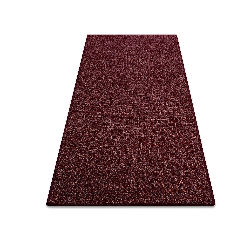Teppich Bermuda rot Teppichläufer Brücke Läufer 250 cm breit Meterware robust und unempfindlich 250 x 110 cm