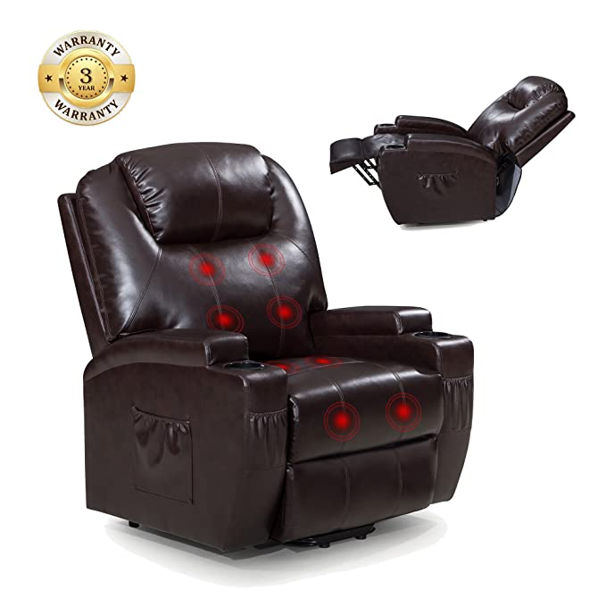 Amazon.com: Power Lift Silla reclinable de sofá con masaje y ...