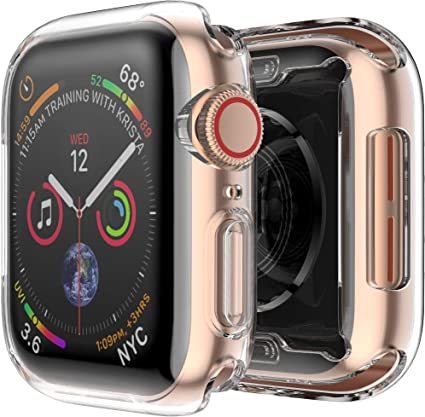 Fintie Case for Apple Watch Series 4 44mm, [Built-in Screen Protector] Soft TPU HD Clear Ultra-Thin All-Around Protective iWatch Cover for 2018 Apple ...