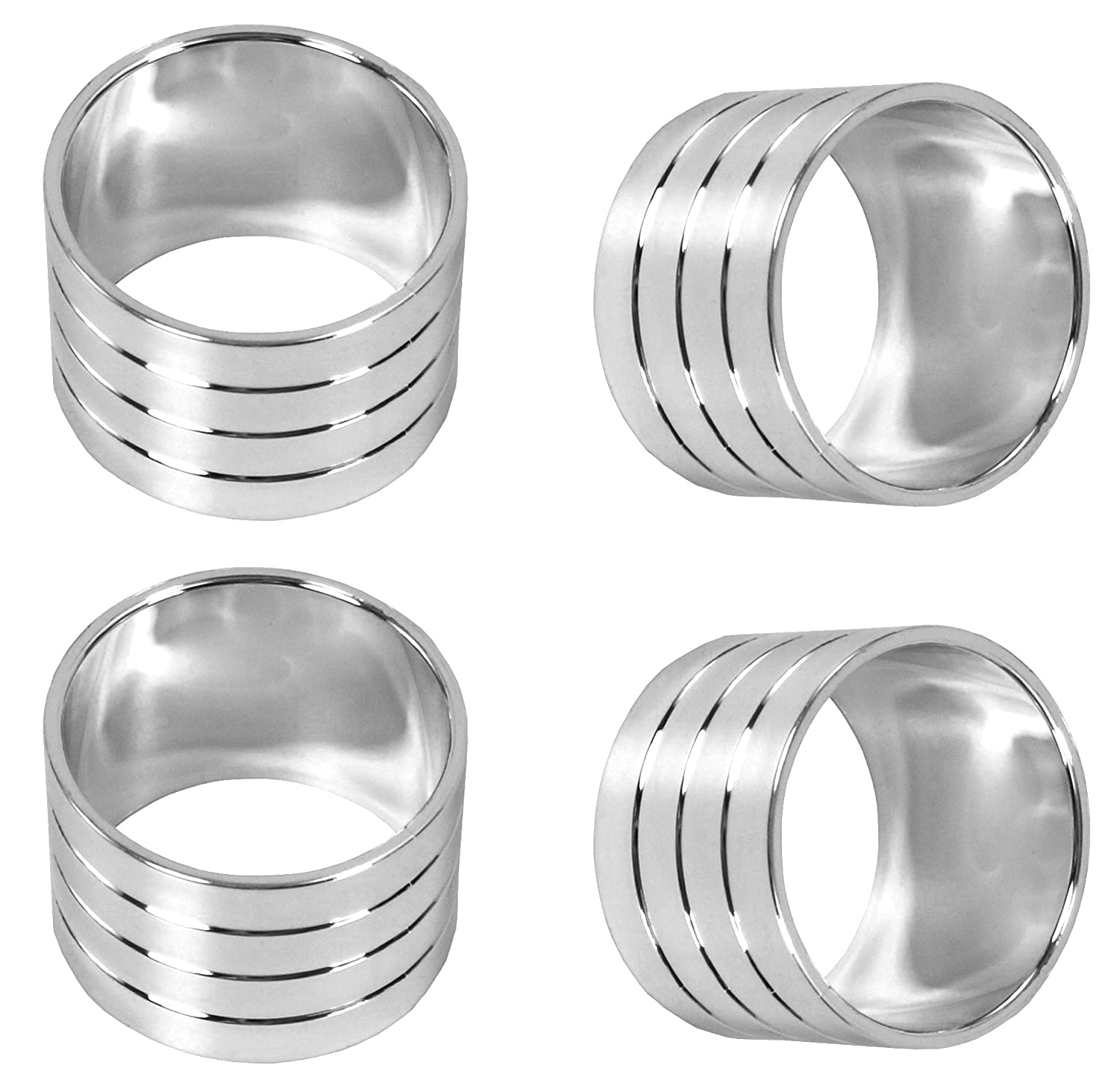 Blake And Croft Napkin Rings - Chrome Colored - 36 Rings Regent