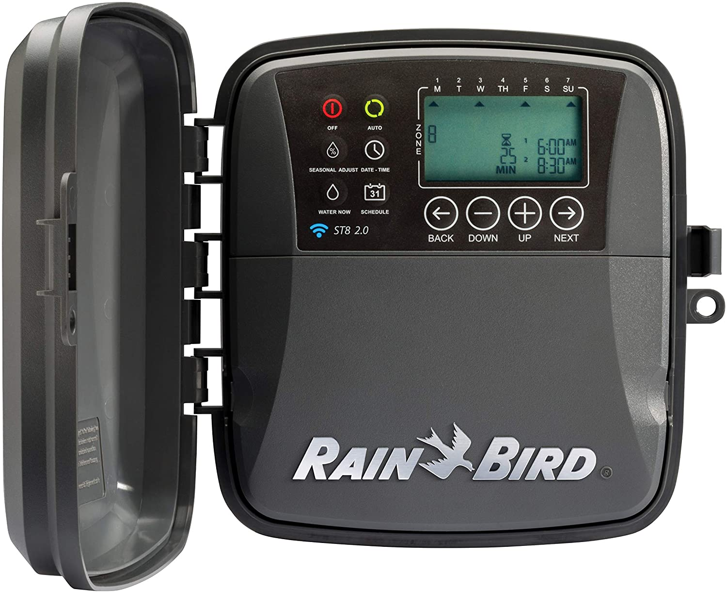 Rain Bird ST8O-2.0 Smart Indoor/Outdoor WiFi Sprinkler/Irrigation System Timer/Controller, WaterSense Certified, 8-Zone/Station, Compatible with Amazon Alexa (2.0 replaces Obsolete ST8O-WIFI)
