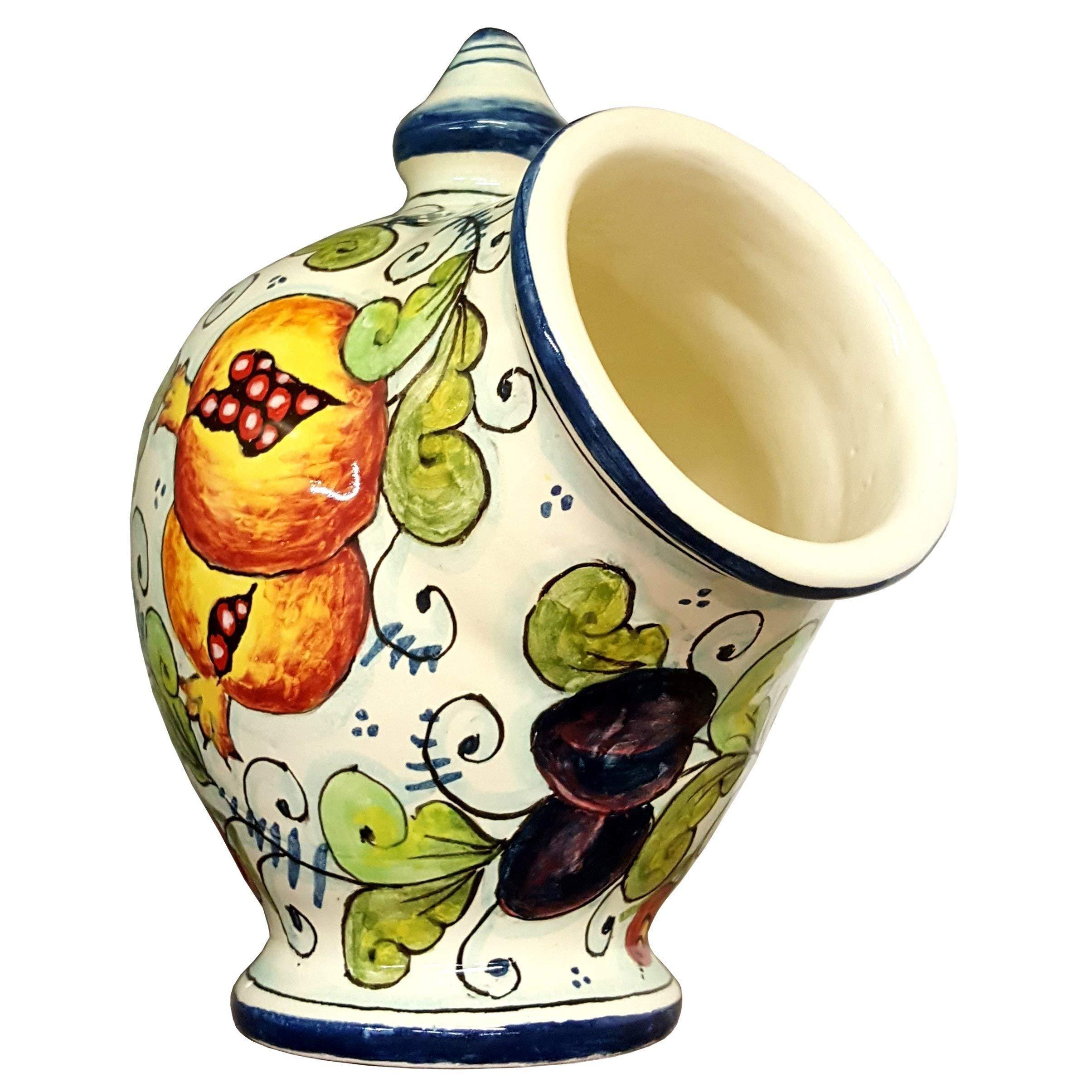 CERAMICHE D'ARTE PARRINI- Italian Ceramic Jar Salt Holder Sponge Hand Painted Decorated Fruit Made in ITALY Tuscan Art Pottery by CERAMICHE D'ARTE PARRINI since 1979 (Image #2)
