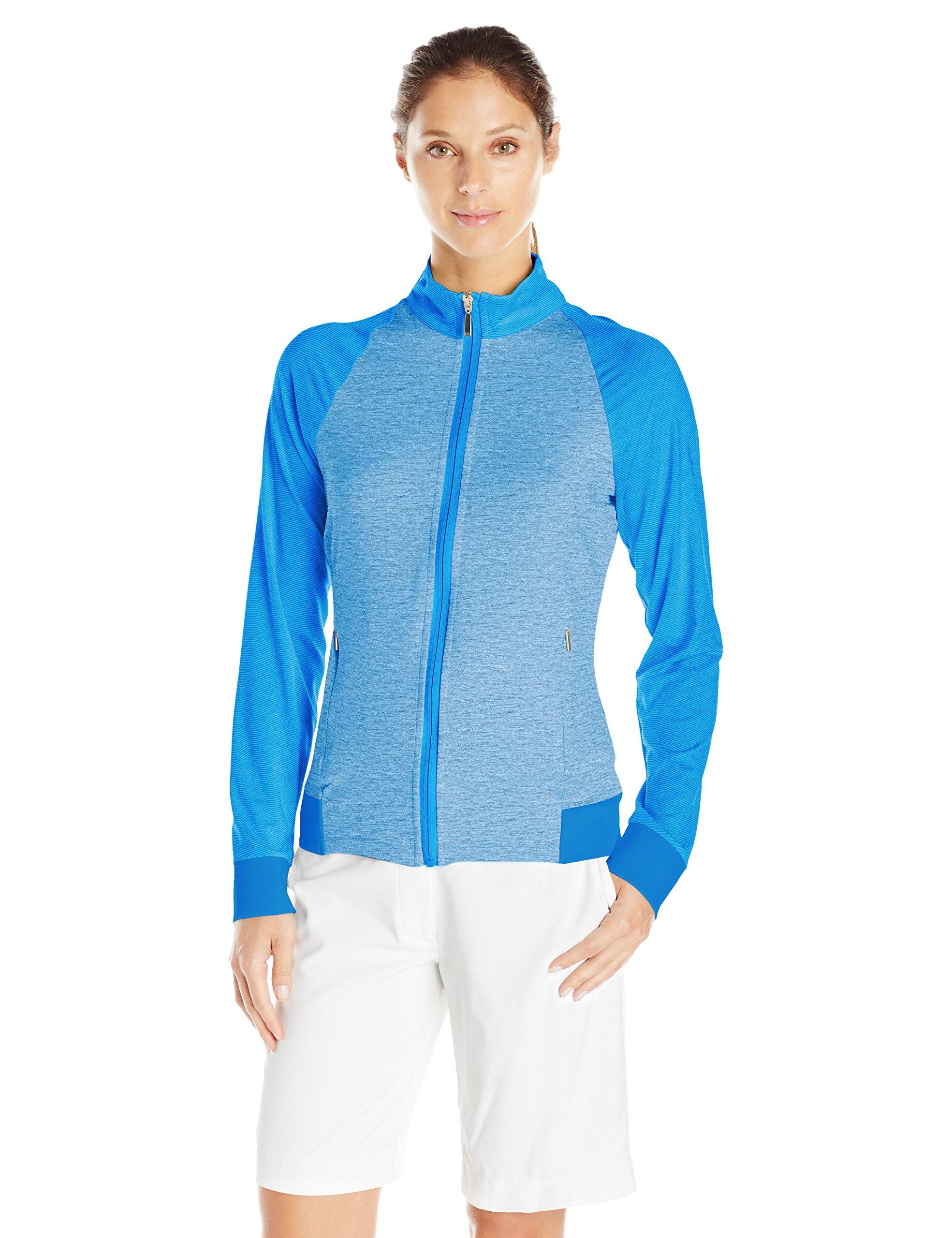 Cutter & Buck Women's Moisture Wicking, UPF 50+, Long-Sleeve Lena Full Zip Jacket, Vista, XS