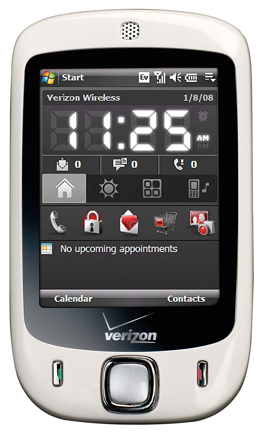 Amazon Com Htc Touch Xv6900 Phone White Verizon Wireless Cell