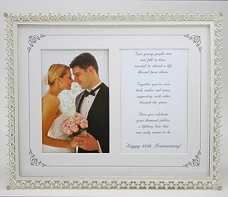 60th Anniversary Frame with 60th Wedding Anniversary Toast: Amazon ...