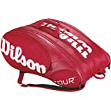 Wilson 15er Tour Racketbag red/white