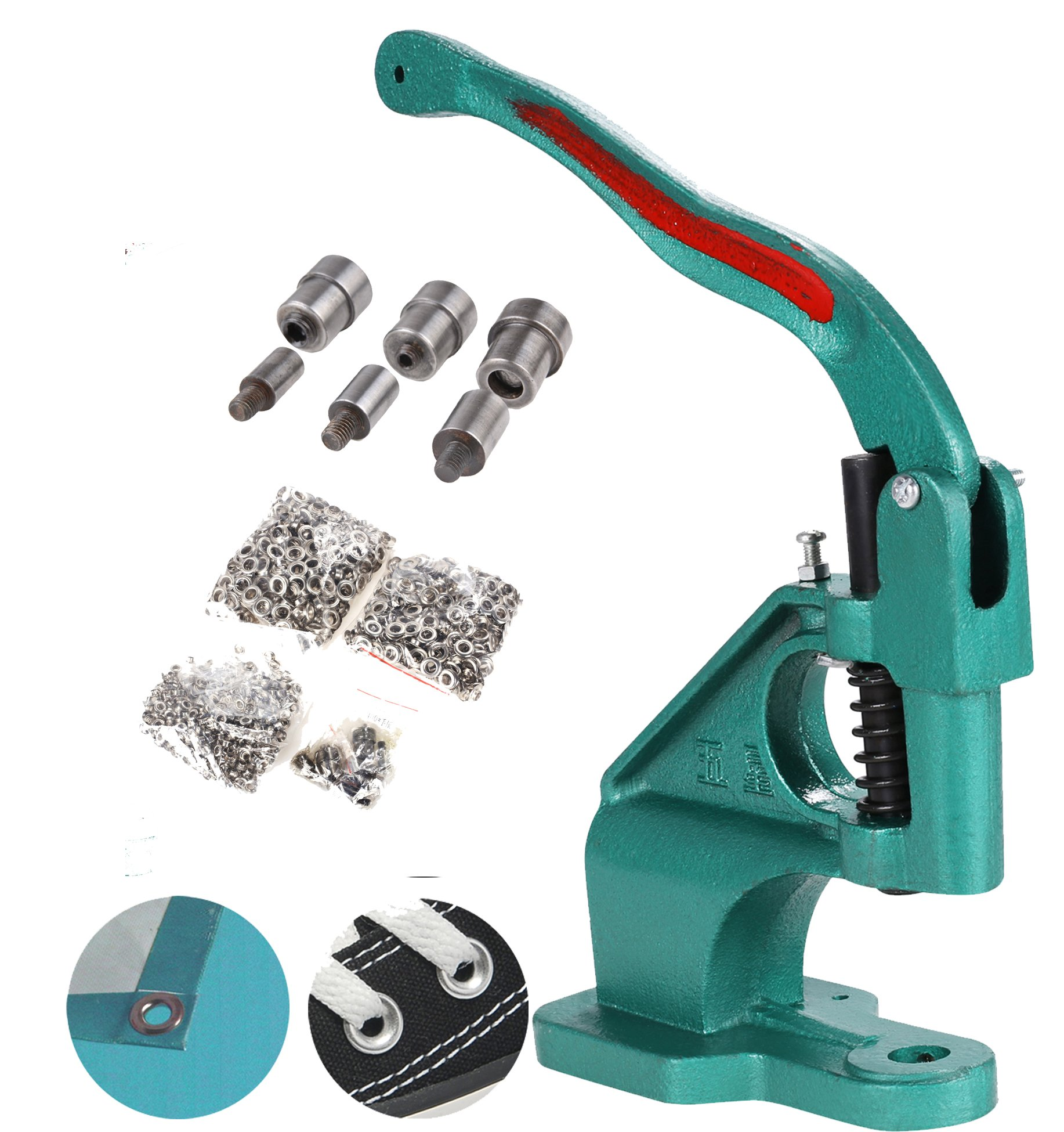 Oanon Banner Grommet Machine 3 Die and 900 Grommets Hand Press Eyelet Tool