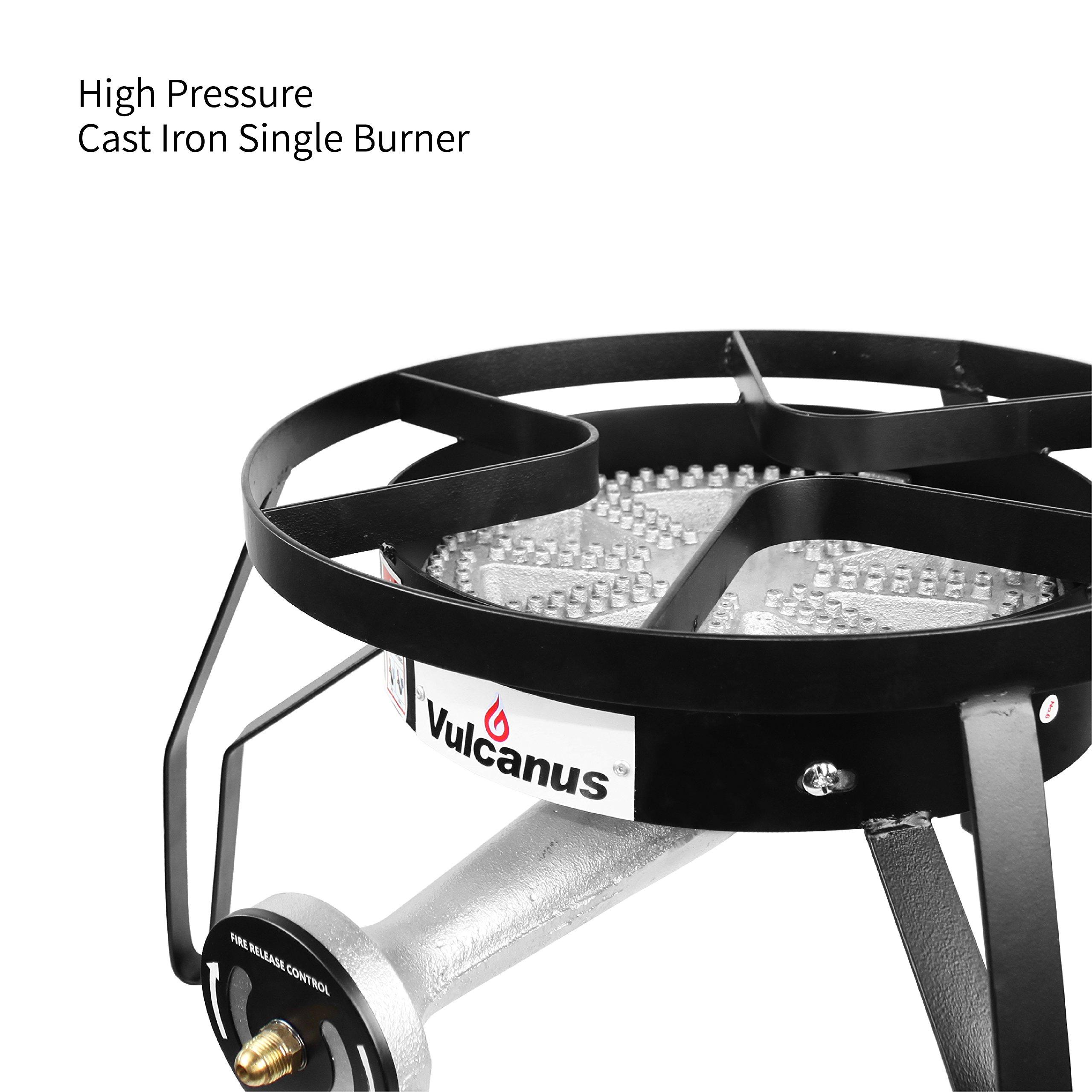 Vulcanus 2-11H High Pressure cast Iron Super Burner with CSA Propane Regulator and Hose. 20 PSI by Vulcanus (Image #3)